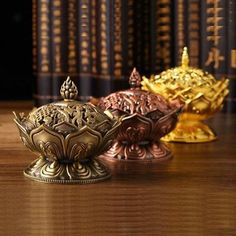 Home Decor Incense Burner Chinese Buddha Incense Holder Lotus Flower Wood Censer Incense Cones, Incense Sticks, Chinese Buddha, Buddha Lotus, Bedroom Crafts, Bedroom Ideas, Crafts With Pictures, Incense Holder, Incense Burner