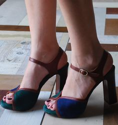 Chie Mihara - Regis Ocean suede and leather platform sandal