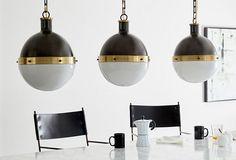 Hangman Lamp, Gold Leaf - Table Lamps - Indoor and Outdoor Lighting - Lighting | One Kings Lane