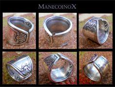 Anel feito com garfo de prata