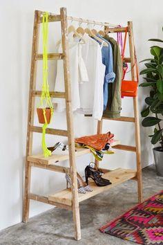 Opinando Moda - DIY Inspirador: Arara de roupas - Opinando Moda