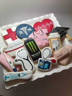 nurse cookies...i especially like the monster can