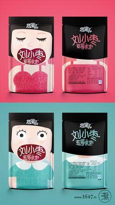 文里杨国品牌设计-悠嘴儿.刘小枣.枣类包装 Cute packaging but I don't know what's inside. PD