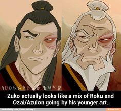 """""""Avatar the Last Airbender/ Legend of Korra: awesome comparison of young and old Zuko."""" My, my - he looks EXCELLENT as an adult. Avatar Zuko, Avatar Airbender, Avatar The Last Airbender Funny, Team Avatar, Mai And Zuko, Zuko And Katara, Prince Zuko, Avatar World, Avatar Series"""