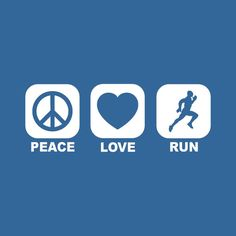 PEACE LOVE RUN t shirt running fit humor hip cool by foultshirts, $12.00