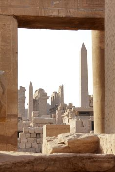 Temple d'Amon-Rê   Temple de Karnak, Luxor, Égypte.