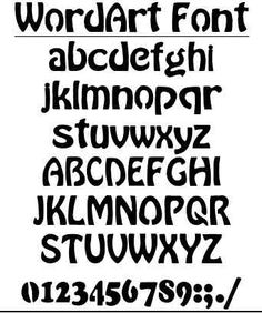 scroll saw letters and numbers templates | Here's a font suitable for generating word art. Follow instructions as ...