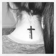 18 2 corinthians 12 9 cross neck http://hative.com/cool-bible-verse-tattoo-design-ideas-with-meanings/
