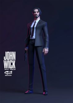 Kontorn Boonyanate is an artist from Thailand whose action figure style has me feeling all gloomy about Disney Infinity again. Game Character Design, 3d Character, Zbrush, Mighty Power Rangers, John Wick Movie, Keanu Reeves John Wick, Keanu Reaves, Low Poly Models, Pop Culture References