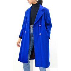 Women's Vintage Clothing Blue Sapphire Wool Coat