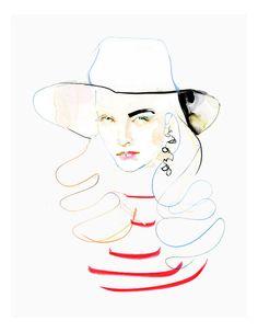 Fashion Illustration Watercolor Ink Modern by martaspendowska, $26