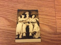 post war WWII occupied Japan U.S. Soldier w/2 Japanese women 3x5