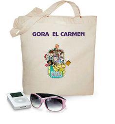 Bolsa tipo playa 100 algodón, Fiestas del Carmen, solo por 17,90€