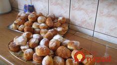 Delikátne lyžičkové šišky – za minútku na stole: Žiadne kysnutie, vaľkanie cesta ani vykrajovanie, hotové sú hneď! Pretzel Bites, Food And Drink, Bread, Sweet, Basket, Candy, Brot, Baking, Breads