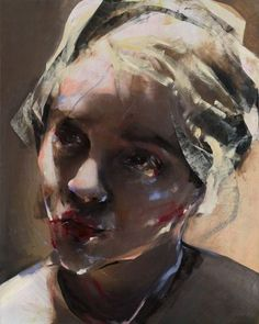 Lita Cabellut (Spanish, b. 1961, Barcelona, Spain) - Dulcinea 2, 2010 Paintings: Oil, Plaster on Linen