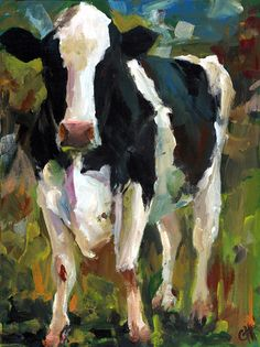 Connie The Cow Painting - Connie The Cow Fine Art Print