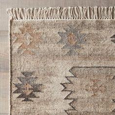 Monterrey Area Rug - like how this is neutral Southwestern Area Rugs, Southwest Decor, Living Room Carpet, Rugs In Living Room, Living Spaces, Hallway Carpet Runners, Stair Runners, Cheap Carpet, Contemporary Area Rugs