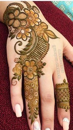 Khafif Mehndi Design, Latest Henna Designs, Floral Henna Designs, Back Hand Mehndi Designs, Henna Art Designs, Mehndi Designs 2018, Mehndi Designs For Girls, Stylish Mehndi Designs, Dulhan Mehndi Designs