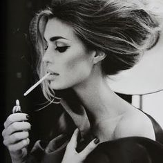 Smoking made glamourous and sexy. Makes the woman a sex symbol because she is smoking. Certain people would find this persuasive and would make them want to try it to be attractive to the opposite sex. Completely wrong body language to create the message I need to create in my outcome. Need to steer clear of this positivity towards smoking.