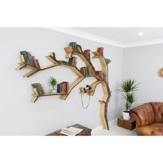 The Windswept Oak Tree Bookshelf ($881) ❤ liked on Polyvore featuring home, furniture, storage & shelves, bookcases, oak tree trunk, oak tree furniture, shelves furniture, shelving furniture and book-shelf