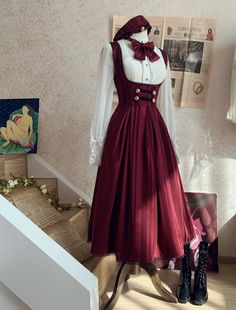 Moluo Lolita -My School Days- Vintage Classic Lolita Corset JSK,Lolita Dresses, Pretty Outfits, Pretty Dresses, Beautiful Dresses, Old Fashion Dresses, Fashion Outfits, Vintage Dresses, Vintage Outfits, Vintage Corset, Victorian Corset