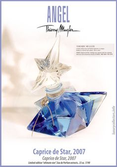 Thierry Mugler Angel Perfume Collector's Limited Edition Bottle 2007 Caprice de Star