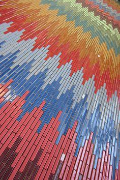 Chevron Stix pattern from Mercury Mosaics Handmade Tile