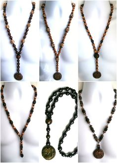 ETHNIC INSPIRED: MENS TRIBAL NECKLACE SIZES 20 - 32  DRAGON PENDANT SHORT LONG. African influenced, tribal wear, mens ethnic inspired fashion.
