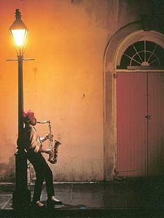 New Orleans jazz musicians take to the streets.