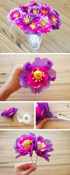 DIY Lollipop Bouquet | Click Pic for 22 DIY Christmas Gifts for Kids to Make | Handmade Christmas Gifts for Girls
