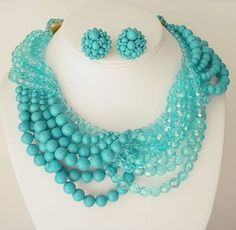 Lovely Coppola E Toppo Turquoise Necklace and Earrings (item #415024, detailed views)
