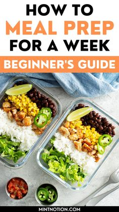 How to meal prep for a week. Great meal prepping ideas for weight loss. Learn how to make 5 dinners in under an hour with these beginner's meal prep tips. Healthy meal prep ideas. Meal Prep For Beginners, Life On A Budget, Debt Free Living, Paying Off Student Loans, Create A Budget, Frugal Living Tips, Healthy Meal Prep, Love Your Life, Saving Money