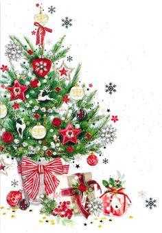 Christmas Topper, Christmas Mood, Christmas Images, Vintage Christmas, Christmas Wreaths, Christmas Crafts, Christmas Decorations, Illustration Noel, Christmas Illustration