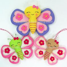 PDF Pattern  Butterfly Felt Pattern  Felt by CasaMagubako on Etsy