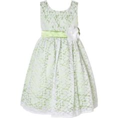 JCPenney - green lace dress