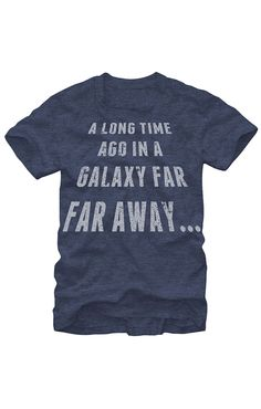 """A long time ago in a galaxy far away"" Star Wars t-shirt"