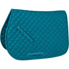 Rider's International Quilted Cotton Saddle Pad (Teal) Equestrian Boots, Equestrian Outfits, Equestrian Style, Equestrian Problems, Equestrian Fashion, Riding Hats, Riding Helmets, Riding Gear, English Horse Tack