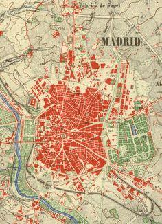 fragmento del plano de Ibañez de Ibero (1875)
