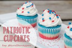 Looking for a 4th of July Dessert idea? You will love these patriotic 4th of July Cupcakes from Amber! Do yourself a favor and make these for the 4th! They look and taste amazing! Enjoy! linda 4th of July Cupcakes I don't know about you all