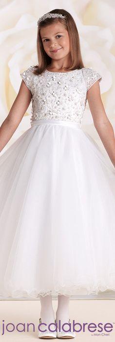 Joan Calabrese for Mon Cheri - Style No. 115309    calabresegirl.com   #flowergirldresses