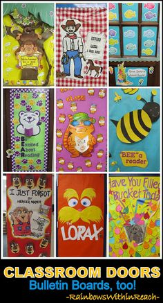 Classroom Door Decoration Ideas + Bulletin Board Ideas TOO! RoundUP at RainbowsWithinReach