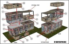 Here is the Bunker paper model, ready to download! This model is perfect for Dioramas, RPG and Wargames and can be easily customized. Download easily, direct from Google Drive. Enjoy!