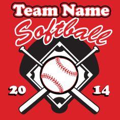 Softball Vector - Tshirt Template clip art eps