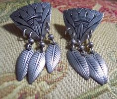 Sterling Silver Earrings Ron Miyashiro signed Vintage (06/17/2007)