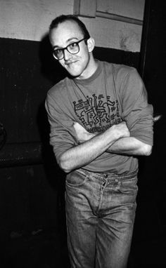 Keith Haring at Roseland Ballroom in 1987.