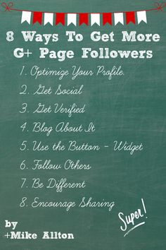 8 Ways to Get More Google+ Page Followers - UPDATED!  #Googleplus  #Business