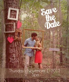save the date; wedding signs