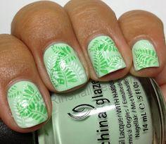 Mint Green Leaves