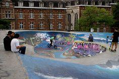 skatepark place de la chapelle - Cerca con Google