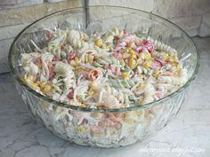 Warzywna sałatka z makaronem - Obżarciuch B Food, Tortellini, Pasta Salad, Potato Salad, Grilling, Salads, Food And Drink, Vegetables, Ethnic Recipes